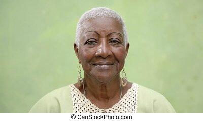 ludzie, starszy, portret, kobiety