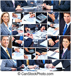 ludzie., teamwork, handlowy