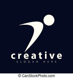 ludzie, wektor, szablon, logo, sport, ikona