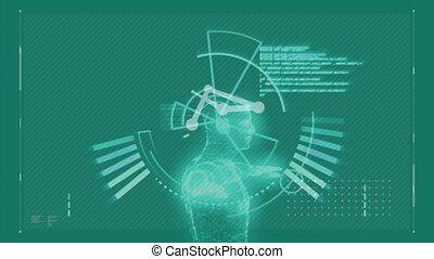 ludzki, dane, cyfrowy, analizując