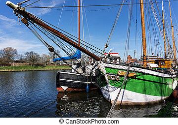 luebeck, 歴史的, ドイツ, 船