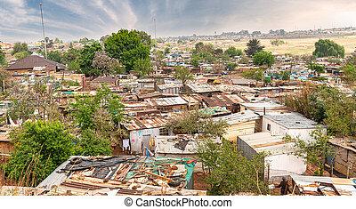 luego, johannesburg, pobre, sur, municipios, áfrica