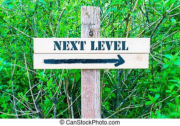 luego, nivel, señal, direccional