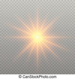 lueur, effet, lumière