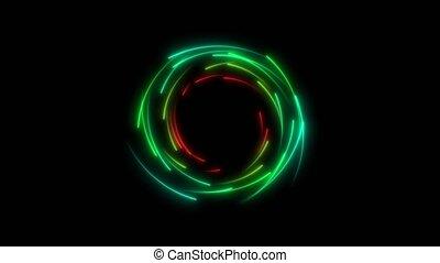 lueur, ligne, multicolore, compte rebours, extérieur, cercle, rouler