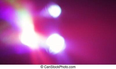 lueur, lumière, panneau, lumières, multicolore