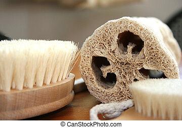 Lufa Scrub - Natural spa accesories lufa bristle brushes and...