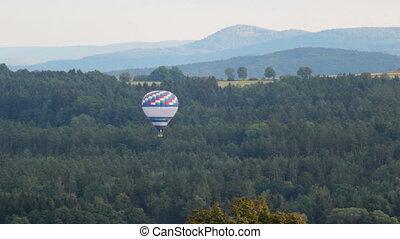 luft, ballon, bäume, fliegen, heiß, aus