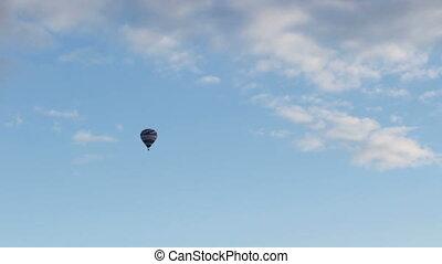 luft, ballon, fliegen, heiß, blauer himmel