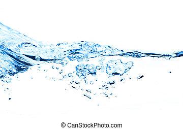 luft, bubblar, in, vatten