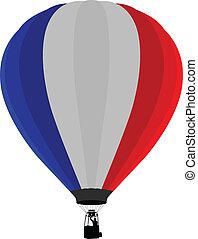 luft, fahne, balloon, frankreich