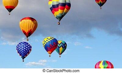 luft, luftballone, heiß