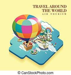 luft, tourismus, begriff
