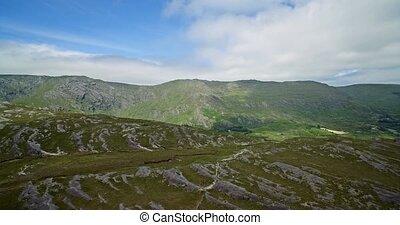 luftaufnahmen, gerste, see, bezirk kork, irland