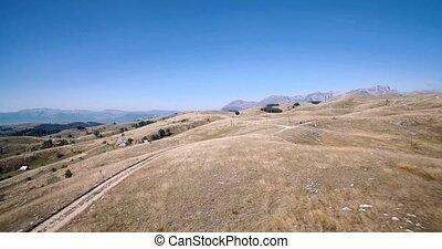 luftaufnahmen, gornji, unac, ackerländer, montenegro