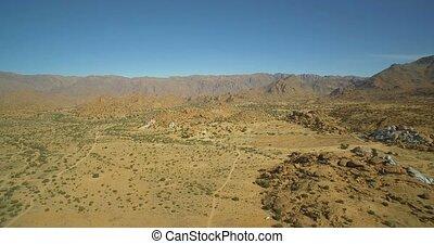 luftaufnahmen, offroad, spaß, an, der, blaues, gemalt, steinen, valle, de, tafraute, marokko
