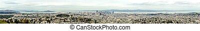 luftaufnahmen, panoramische ansicht, von, san francisco