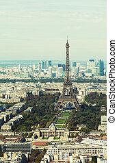 luftaufnahmen, paris, ansicht