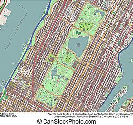 luftaufnahmen, park, york, neu , zentral, ansicht