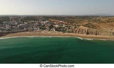 Luftaufnahmen,  portugal,  Lagos, sandstrand,  luz,  da,  praia,  Algarve, Morgen, Ansicht