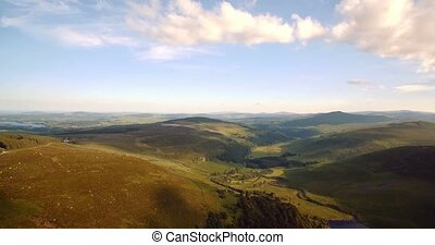 Luftaufnahmen, Tay, See, grafschaft, wicklow, irland,...