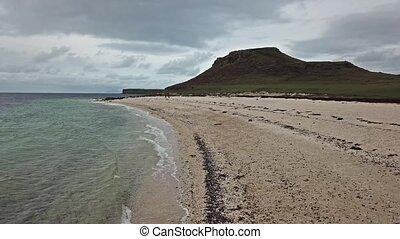 luftaufnahmen, von, der, clagain, koralle, sandstrand, auf,...