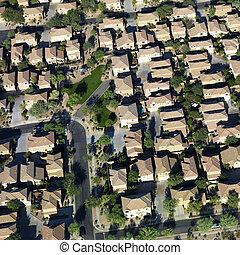 luftaufnahmen, von, suburbs.