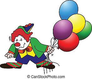 luftballone, clown