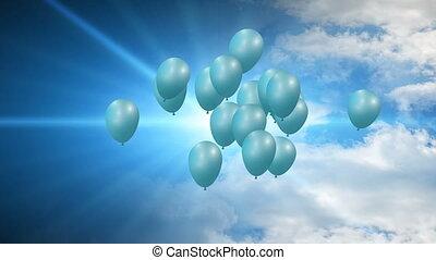 luftballone, fliegendes, feier
