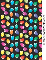 luftballone, geburtstagparty, dekoration