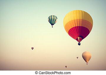 luftballone, heißluft