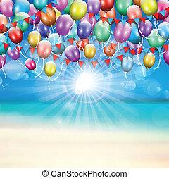 luftballone, hintergrund, 1607