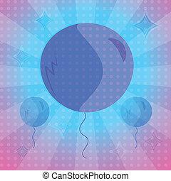 luftballone, hintergrund