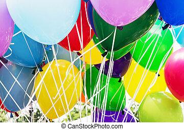 luftballone, party, freizeit- tätigkeit