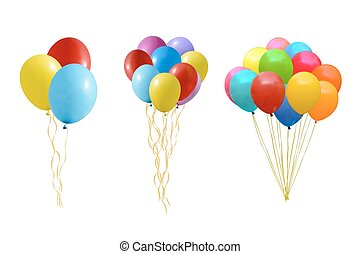 luftballone, satz, bunter