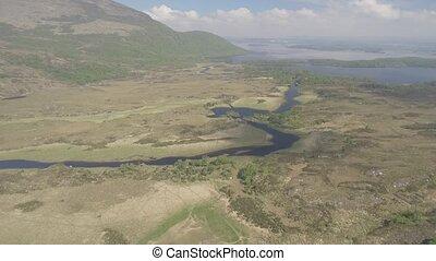 luftblick, killarney nationalpark, auf, der, ring, von,...