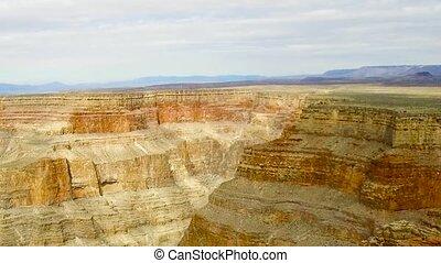 luftblick, von, grand canyon, klippen, von, hubschrauber