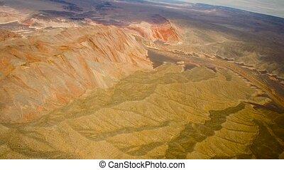 luftblick, von, grand canyon, und, colorado fluß