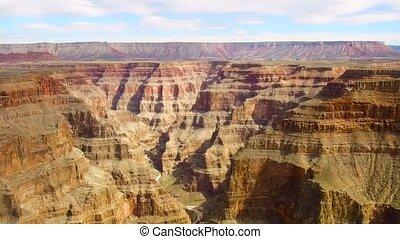 luftblick, von, grand canyon, von, hubschrauber