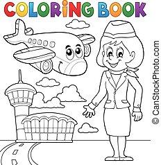 luftfart, coloring bog