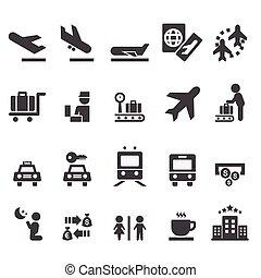 lufthavn, ikon