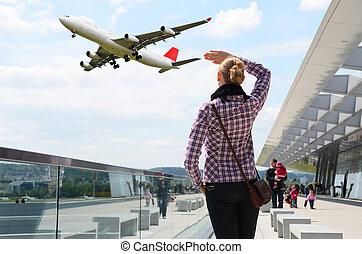 lufthavn, scene
