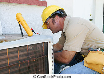 luftkonditionering, repairman, 4