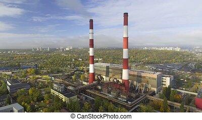 luftverschmutzung, von, der, plant.