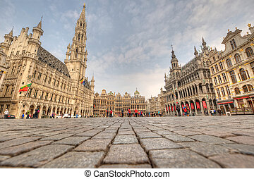 lugar, -, bélgica, magnífico, bruselas