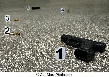 lugar, de, tiroteio