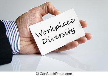lugar de trabajo, diversidad, texto, concepto