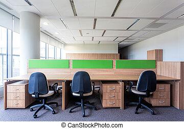 lugar de trabajo, en, la oficina