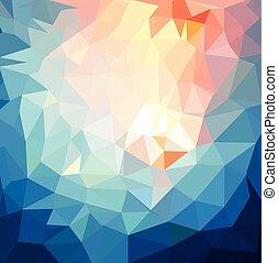 lugar, para, su, text., retro, triángulo, plano de fondo