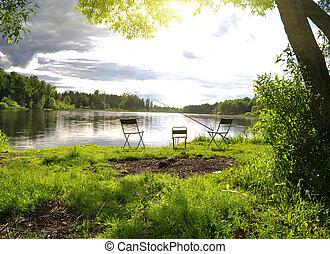 lugar rio, pesca